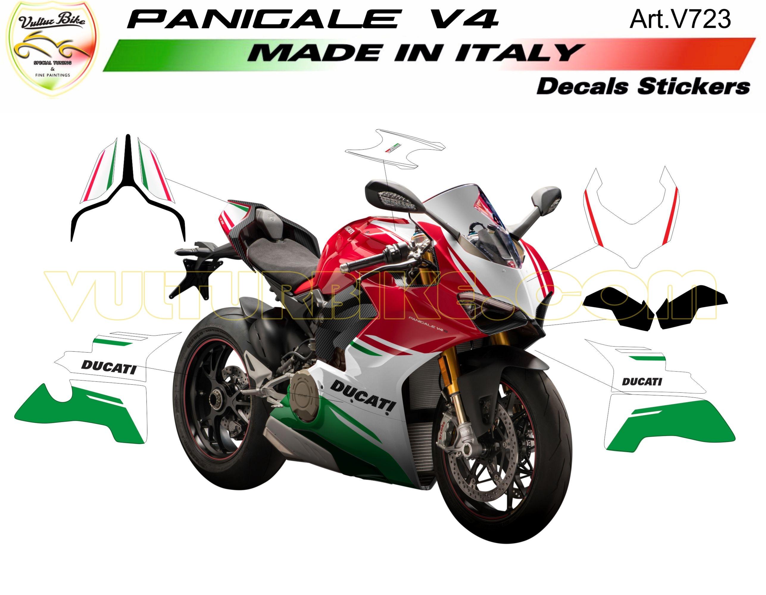 Vulturbike Ducati Panigale V4 Custom Green Decal Sticker Kit | Conquest  Racing Ltd