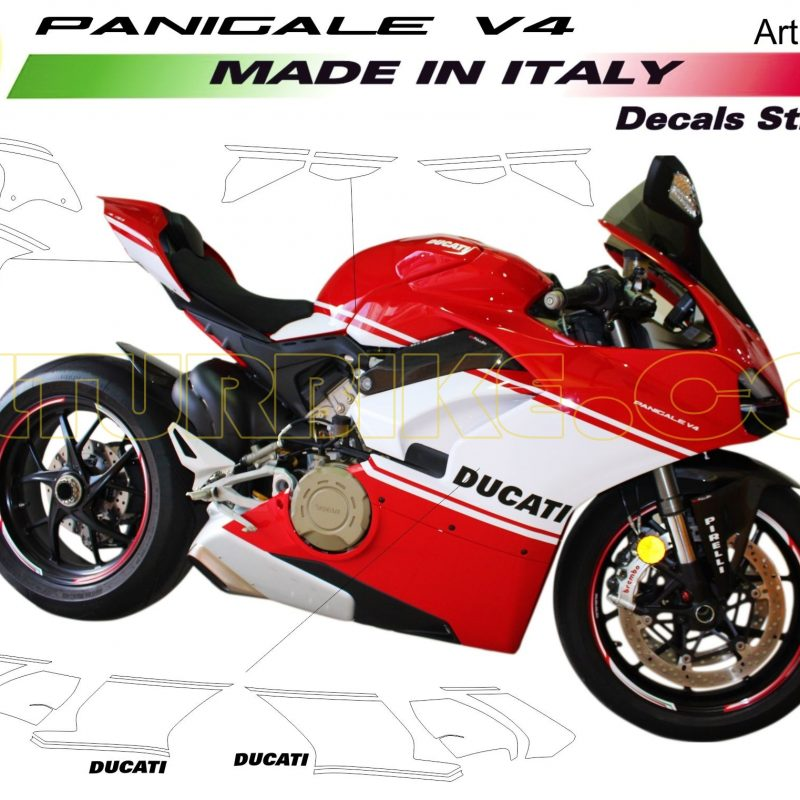 Vulturbike Ducati Panigale V4 Desmo D16RR Decal Sticker Kit