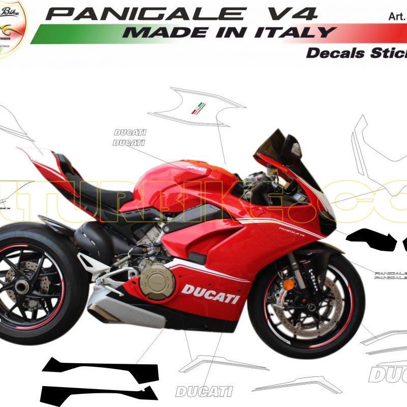 Vulturbike Ducati Panigale V4 Minimal Decal Sticker Kit
