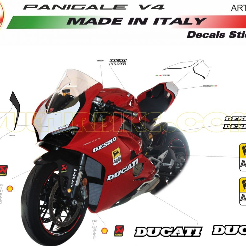 Vulturbike Ducati Panigale V4 Retro Decals Sticker Kit