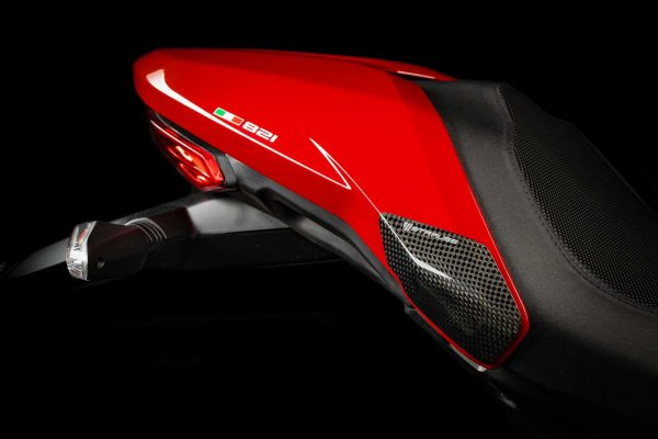Strauss Ducati Monster 821 1200 1200S Carbon Fibre Tail Sliders Gloss