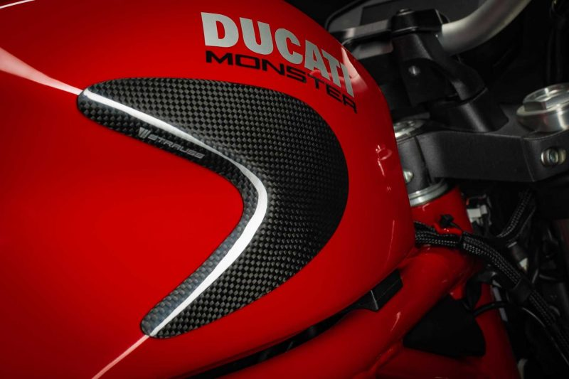 Strauss Ducati Monster 821 1200 1200S Carbon Fibre Tank Sliders Gloss