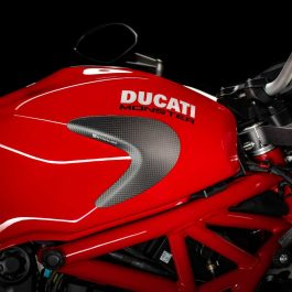 Strauss Ducati Monster 821 1200 1200S Carbon Fibre Tank Sliders Satin