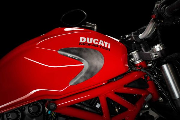 Strauss Ducati Monster 821 1200 1200S Carbon Fibre Tank Sliders Satin