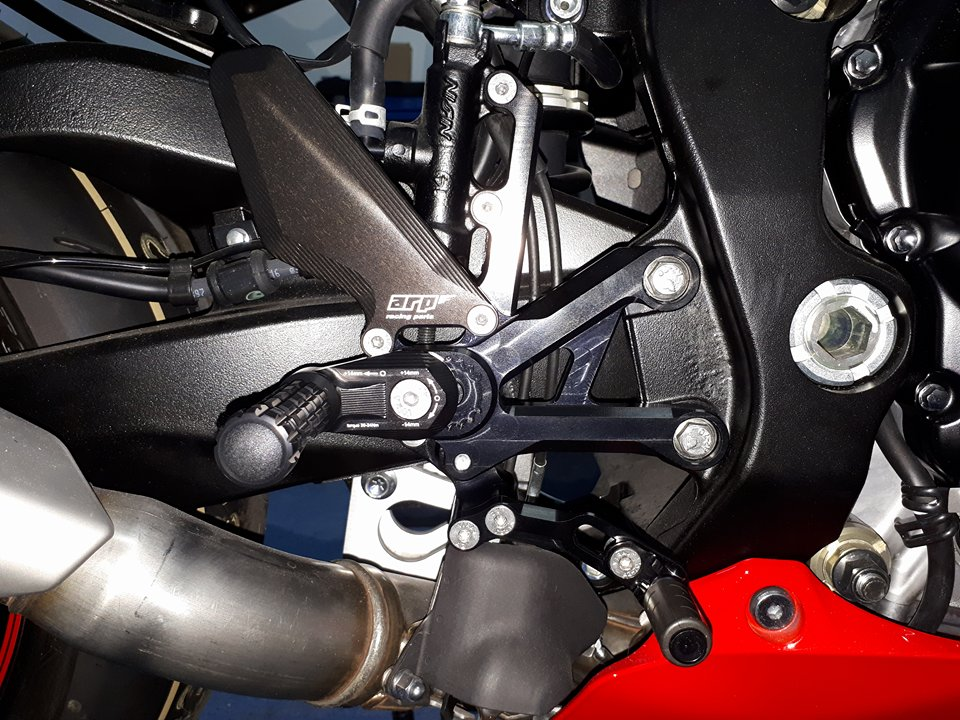 ARP Racing Rearsets Suzuki GSXR 1000 17-19