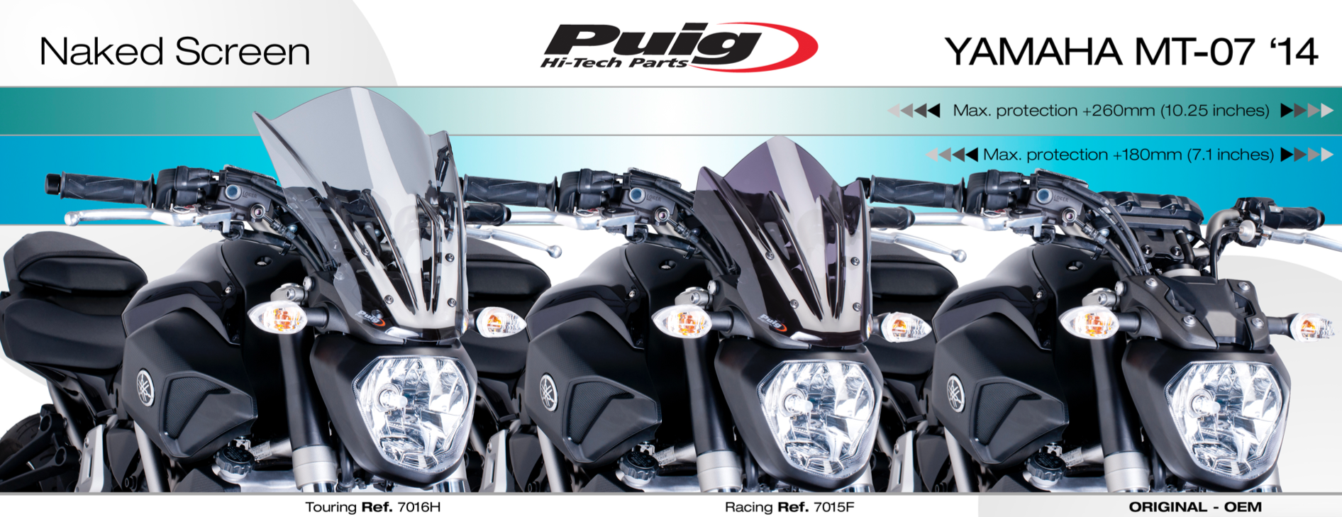 Puig Yamaha MT-07 Sport Screen Windscreen 2014-2017