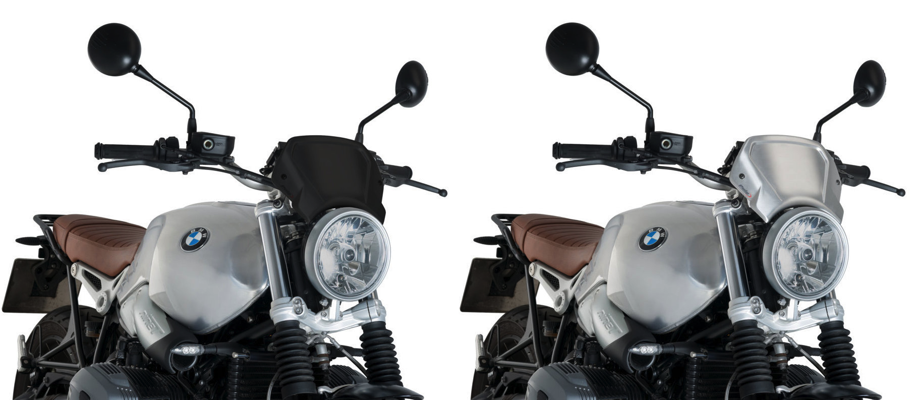 Puig BMW R Nine T / Scrambler / Pure Aluminium Sports Screen 2014+