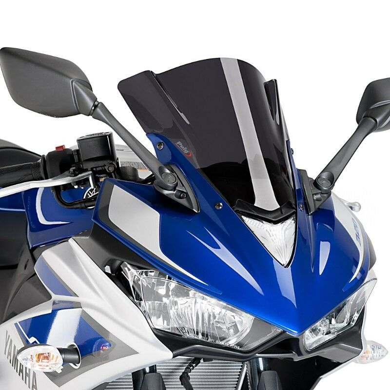 Puig Yamaha YZF R3 Double Bubble Racing Screen 2015-18