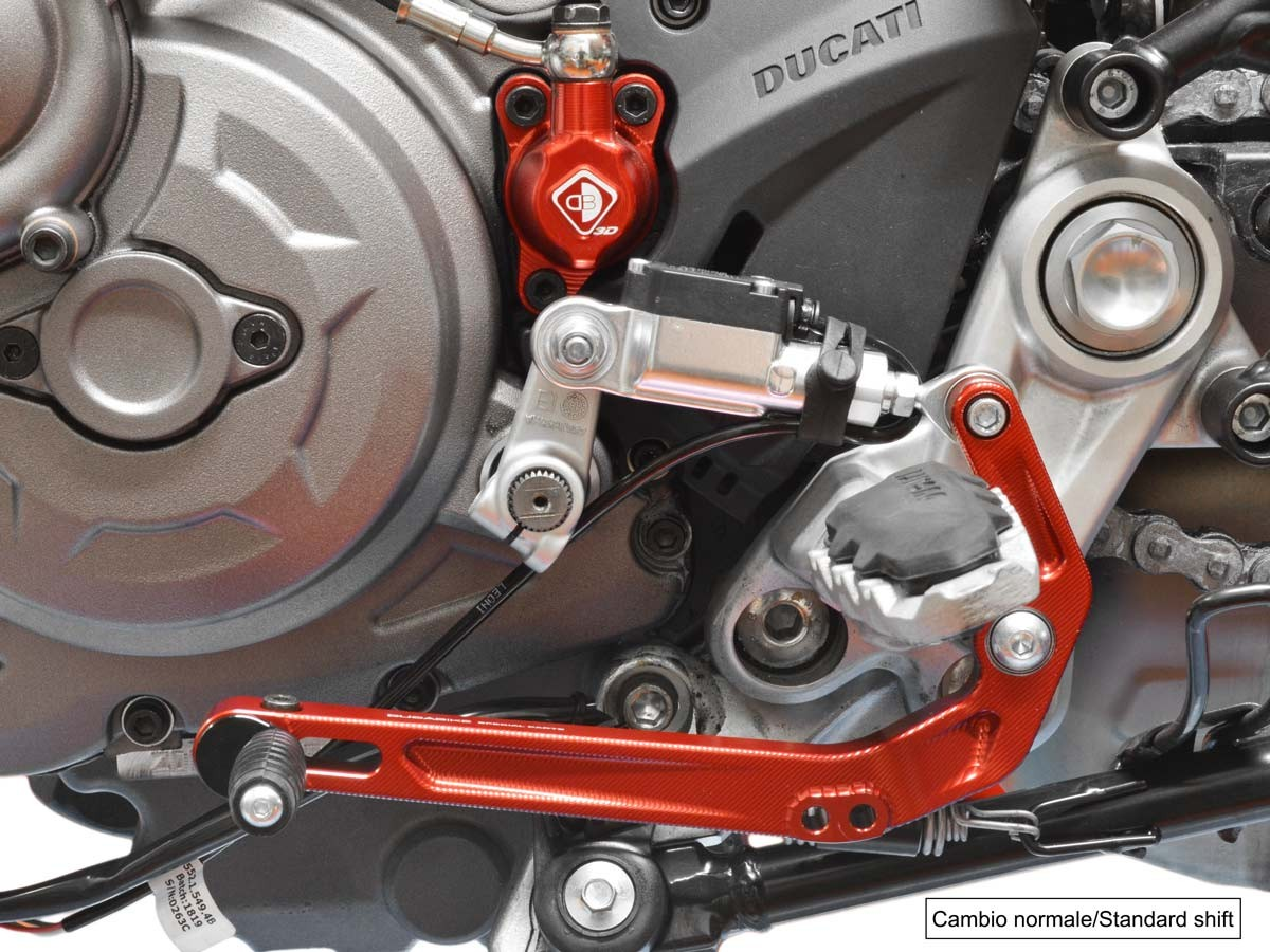 SP Gear Shift Lever Reversible Red Ducabike Ducati Hypermotard 950