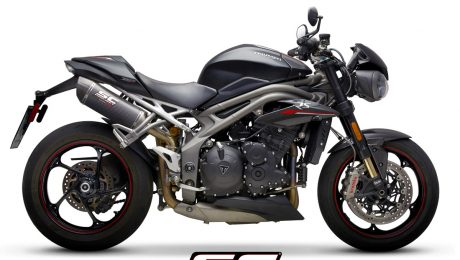 SC Project Exhaust Triumph Speed Triple S RS Oval Carbon Silencers 2018+