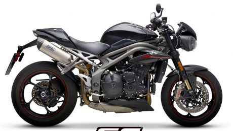 SC Project Exhaust Triumph Speed Triple S RS Oval Titanium Silencers 2018+