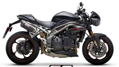 SC Project Exhaust Triumph Speed Triple S RS SC1-M Carbon Silencers 2018+