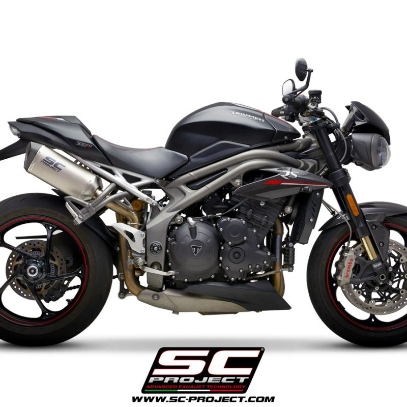 SC Project Exhaust Triumph Speed Triple S RS SC1-M Titanium Silencers 2018+