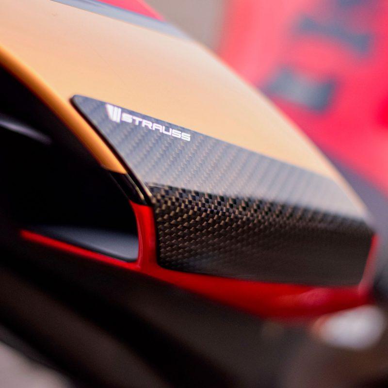 Strauss Yamaha R1 R1M Carbon Fibre Tail Sliders 2015-19