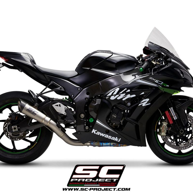 SC Project Exhaust Kawasaki Ninja ZX-10R S1 Silencer De-Cat Link Pipe 2016+