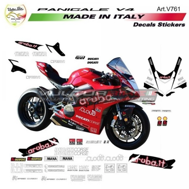 Vulturbike Ducati Panigale Aruba WSBK Decal Sticker Kit V4R V4/S 2020+