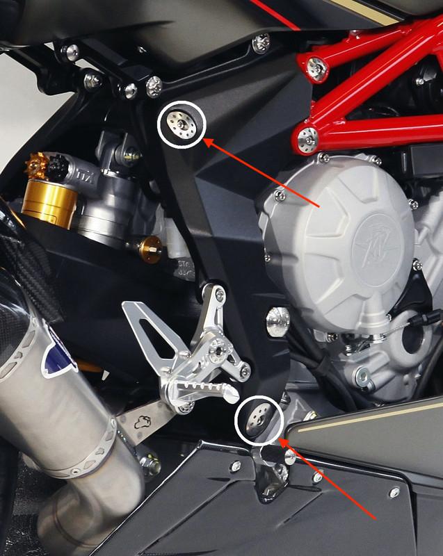MotoCorse MV Agusta 675 / 800 Frame Plug Caps