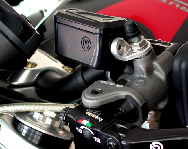 MotoCorse Ducati Brembo RCS Integrated Brake Clutch Reservoir Tanks