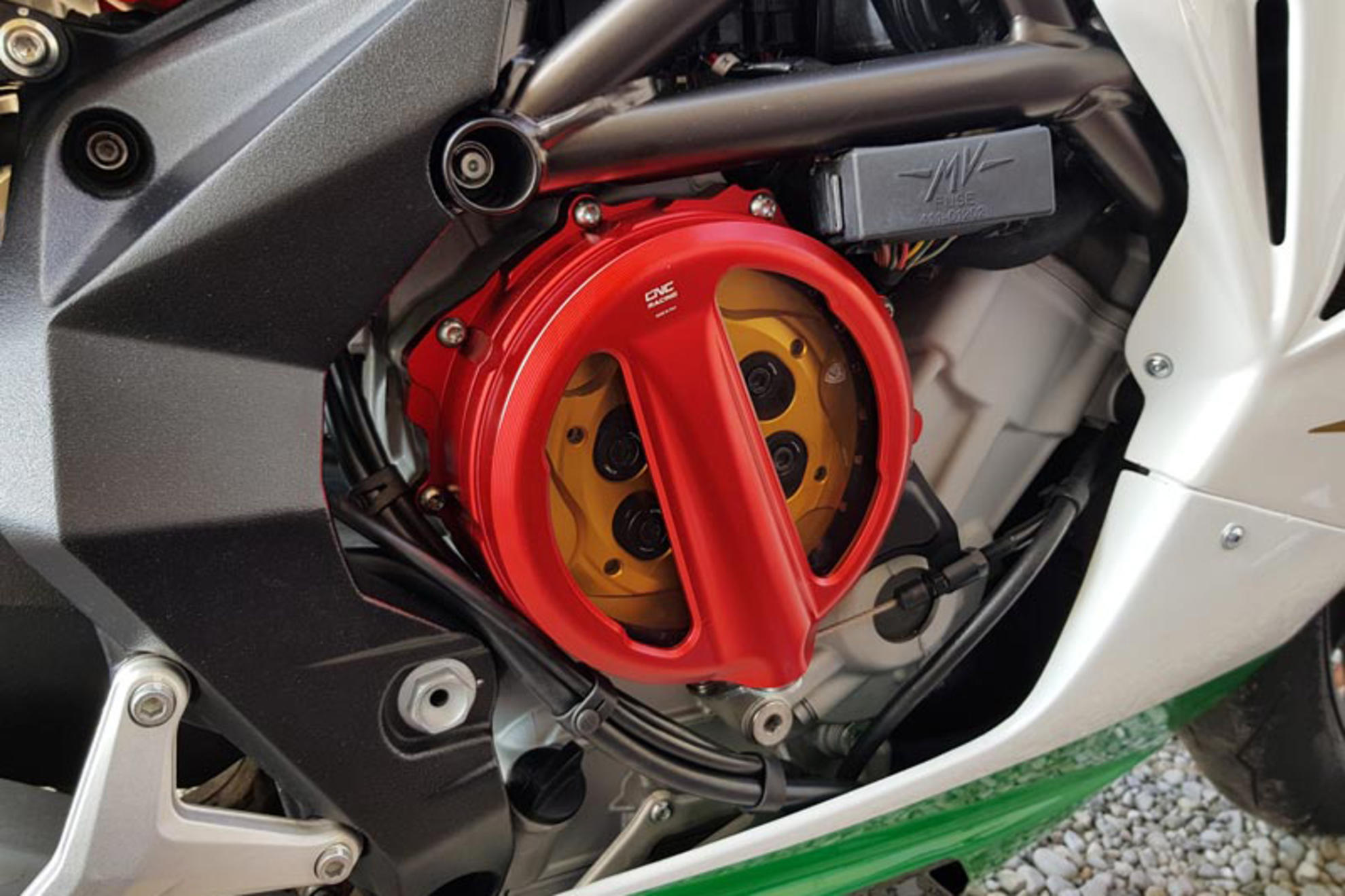 CNC Racing MV Agusta Brutale Dragster F3 Rivale Clear Clutch Cover