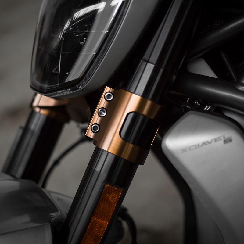 AEM Factory Ducati XDiavel Triple Clamp Set X-Clamp