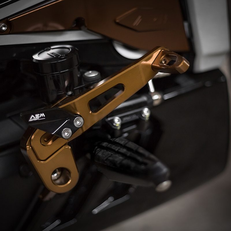 AEM Factory Ducati XDiavel Adjustable Foot Levers X-Command
