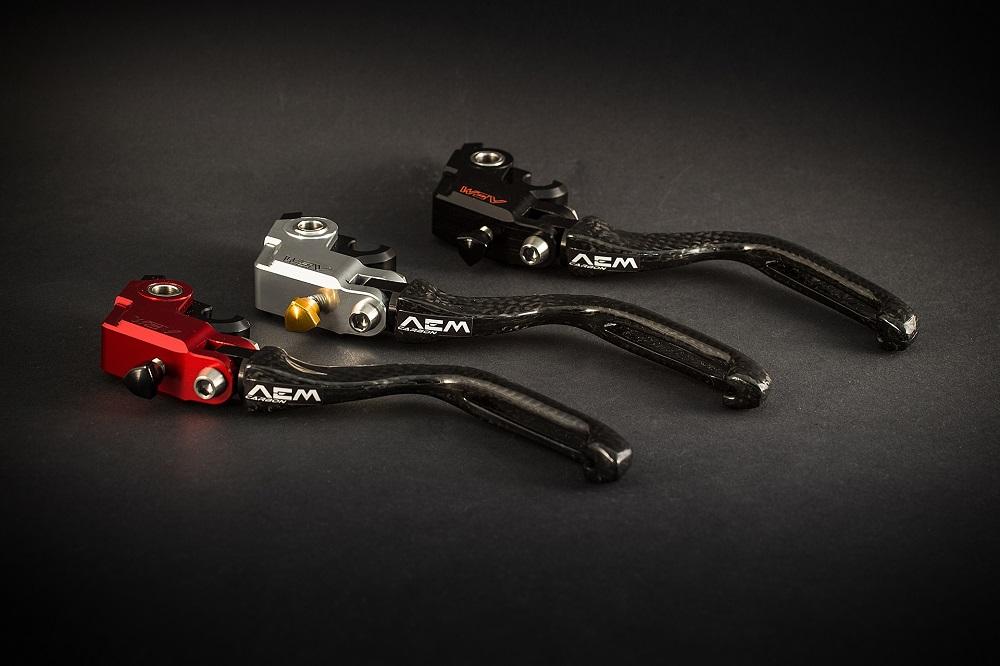 AEM Factory Ducati Panigale 899 959 1199 1299 Adjustable Carbon Fibre Brake + Clutch Levers