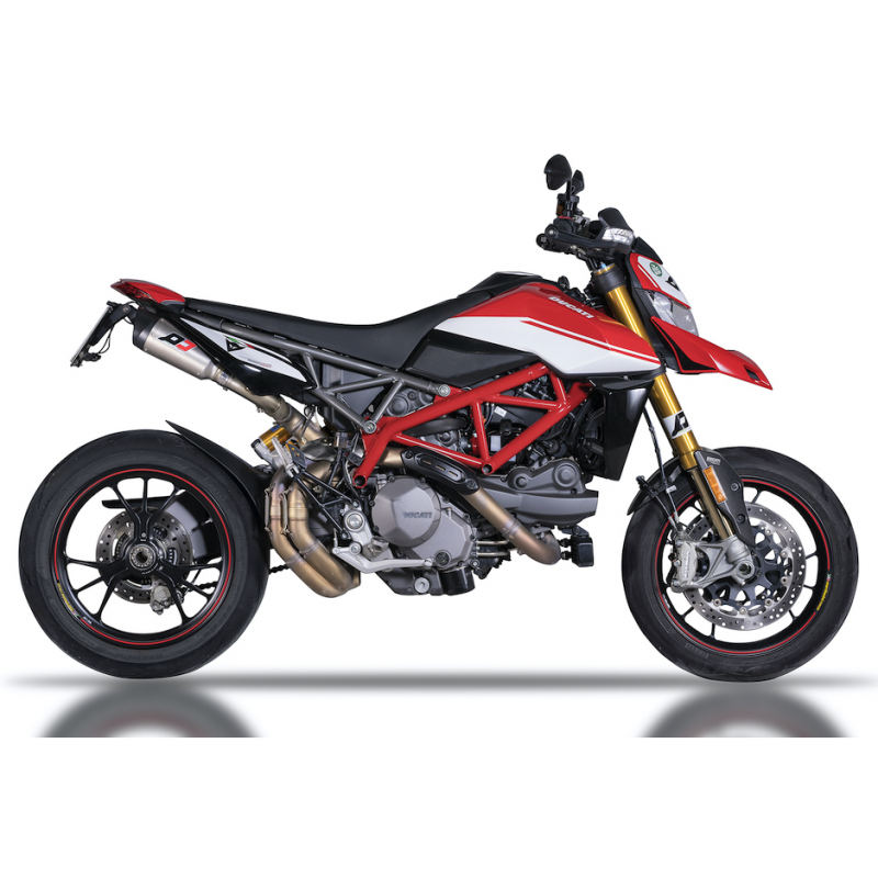 QD Exhaust Ducati Hypermotard 950 Titanium Twin GunShot Slip-On Silencers