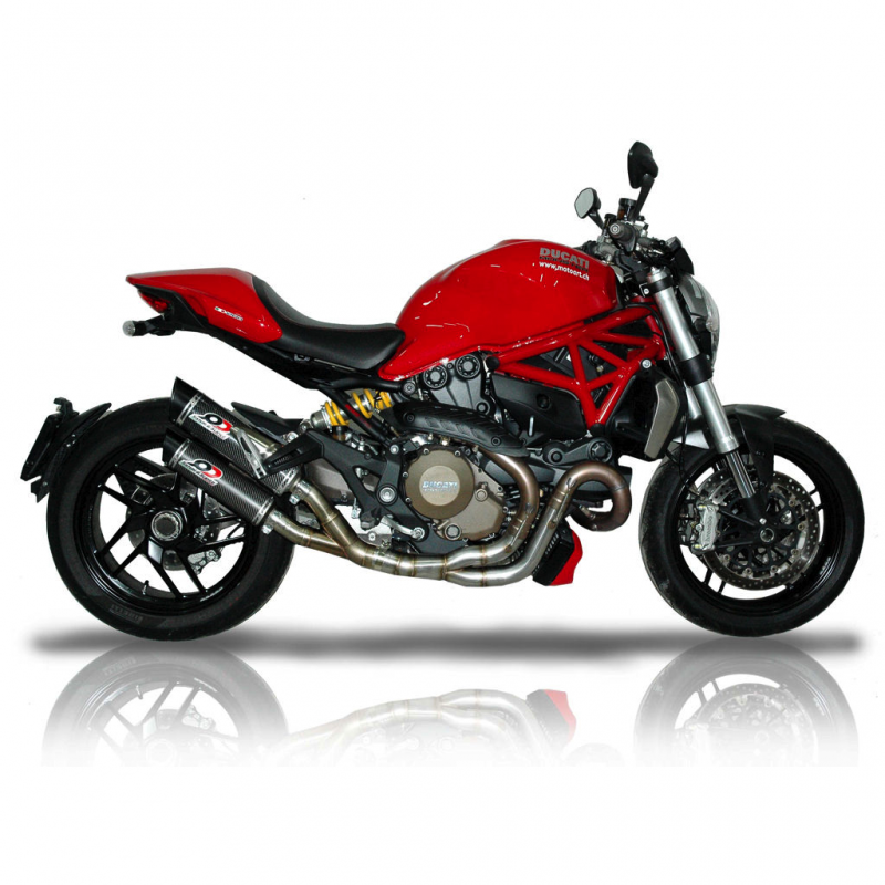 QD Exhaust Ducati Monster 1200/S Twin Magnum Silencers 2016-17 Euro4