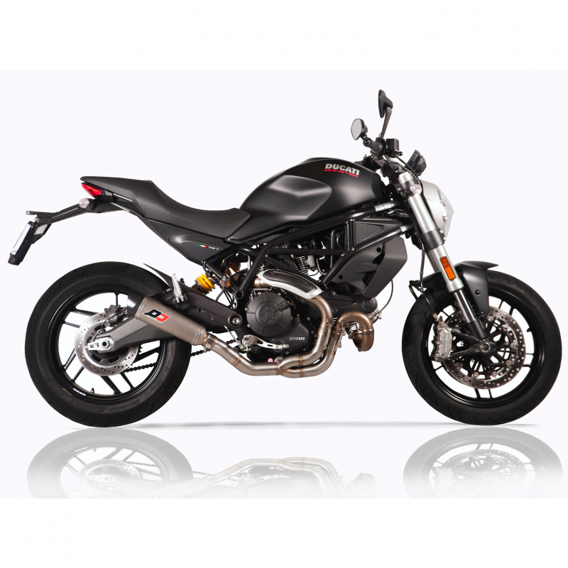 QD Exhaust Ducati Monster 797 Link Pipe + Tri-Cone Silencer Euro4