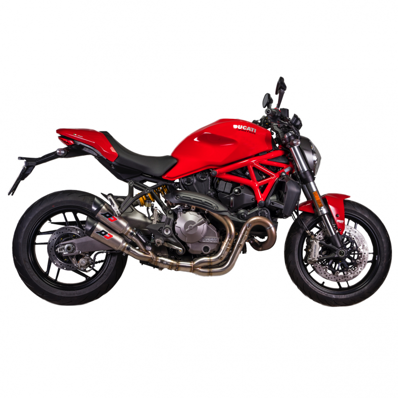 QD Exhaust Ducati Monster 821-1200S Twin Gunshot Silencers Euro4 2018+
