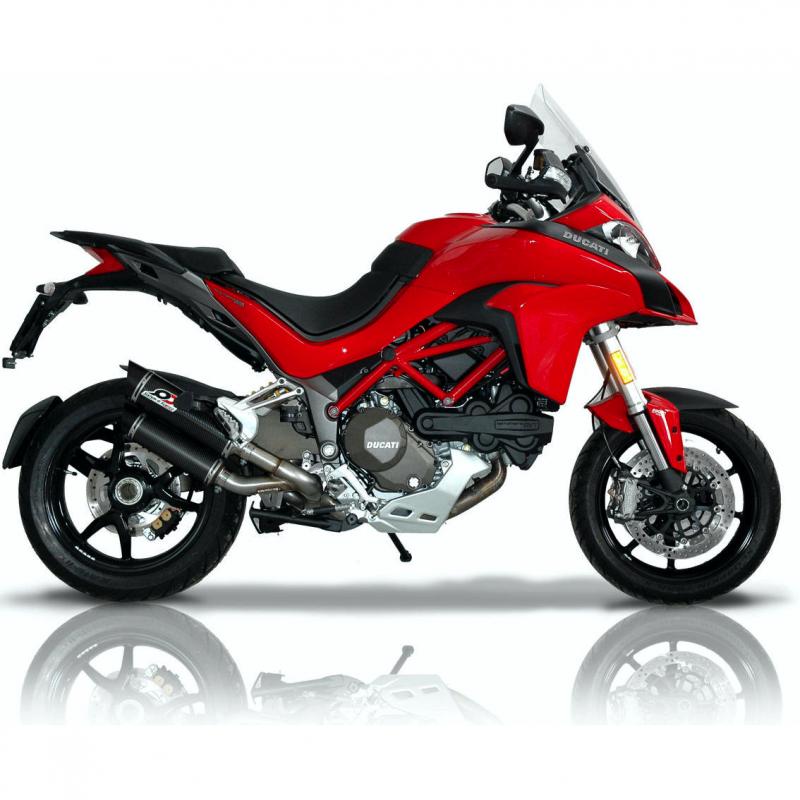 QD Exhaust Ducati Multistrada 1200 Magnum Carbon Silencers 2015-17