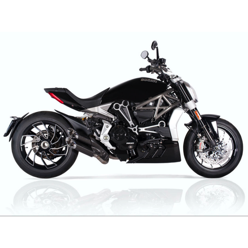 QD Exhaust Ducati XDiavel Monkey Slash Cut Carbon Silencers