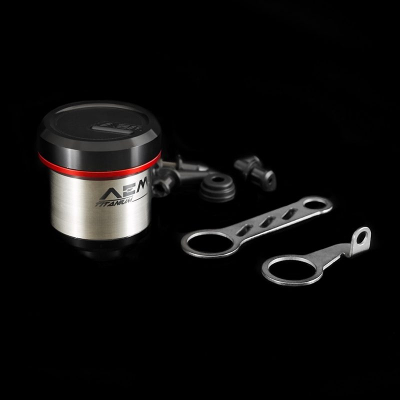 AEM Factory Ducati MV Agusta Titanium Brake + Clutch Reservoir Fluid Tanks