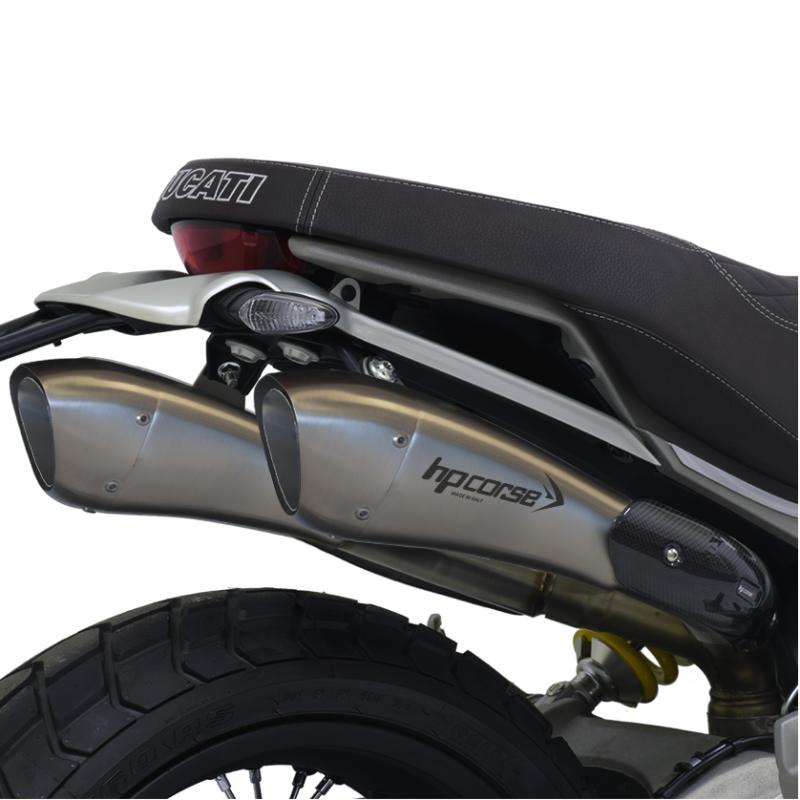 HP Corse Exhaust Ducati Scrambler 1100 Hydroform Silencers