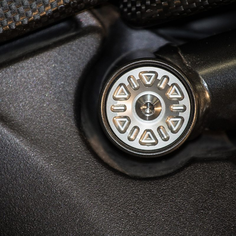 "AEM Factory Ducati Diavel Frame Plug Caps ""Drill"""