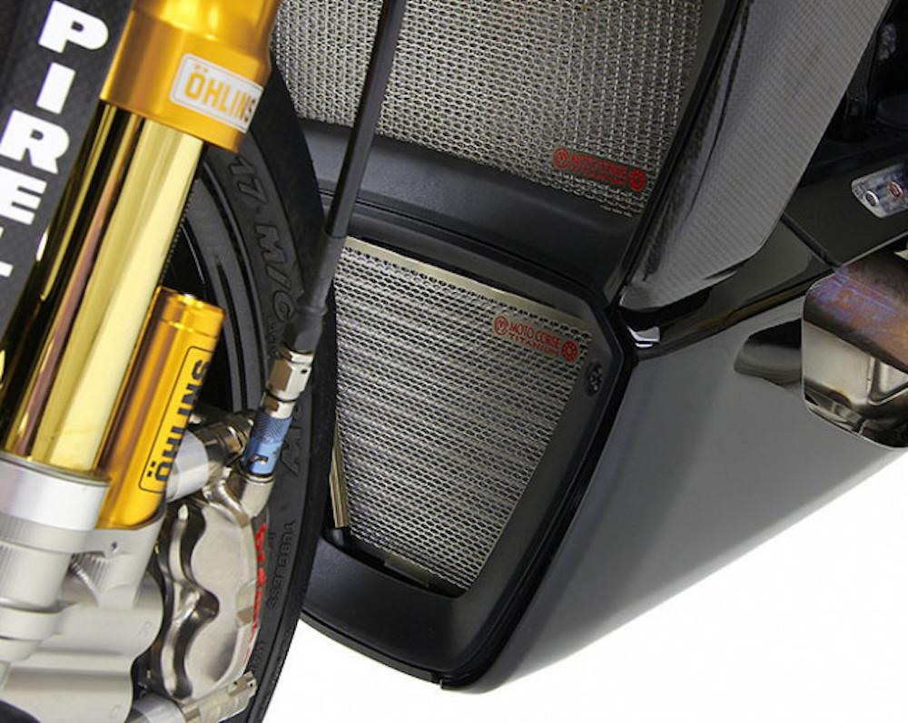 MotoCorse Ducati XDiavel Oil Titanium Radiator Guard