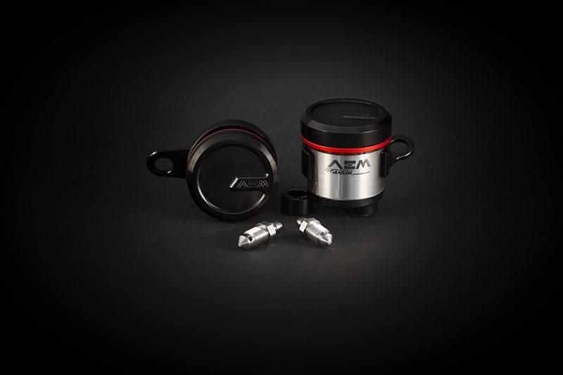 AEM Factory Ducati Integrated Titanium Brake + Clutch Reservoir Fluid Tanks