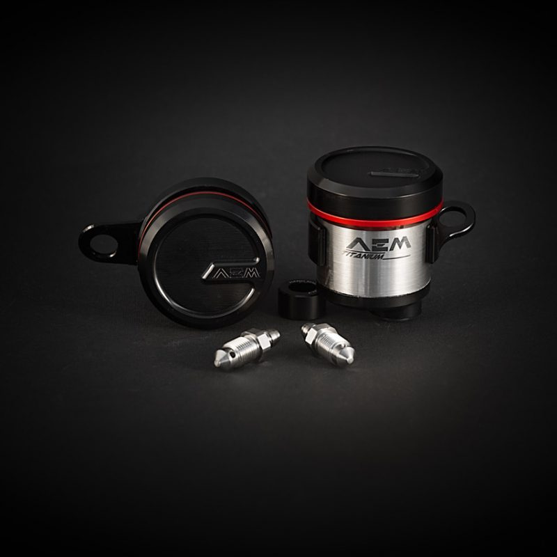 AEM Factory Ducati Integrated Titanium Brake + Clutch Reservoir Fluid Tanks