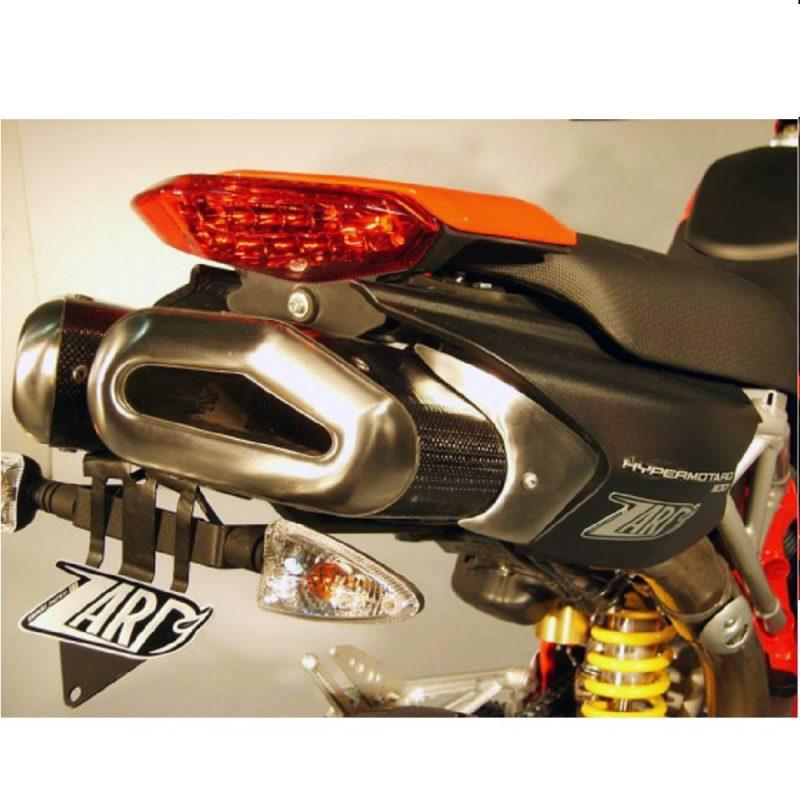 Zard Exhaust Ducati Hypermotard 796 1100 Penta Carbon Slip-On Kit With Carbon End Cap