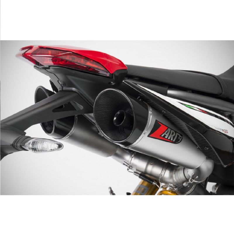 Zard Exhaust Ducati Hypermotard 950/SP GT Stainless Slip-On Kit Euro 4 With Carbon End Cap 2019+