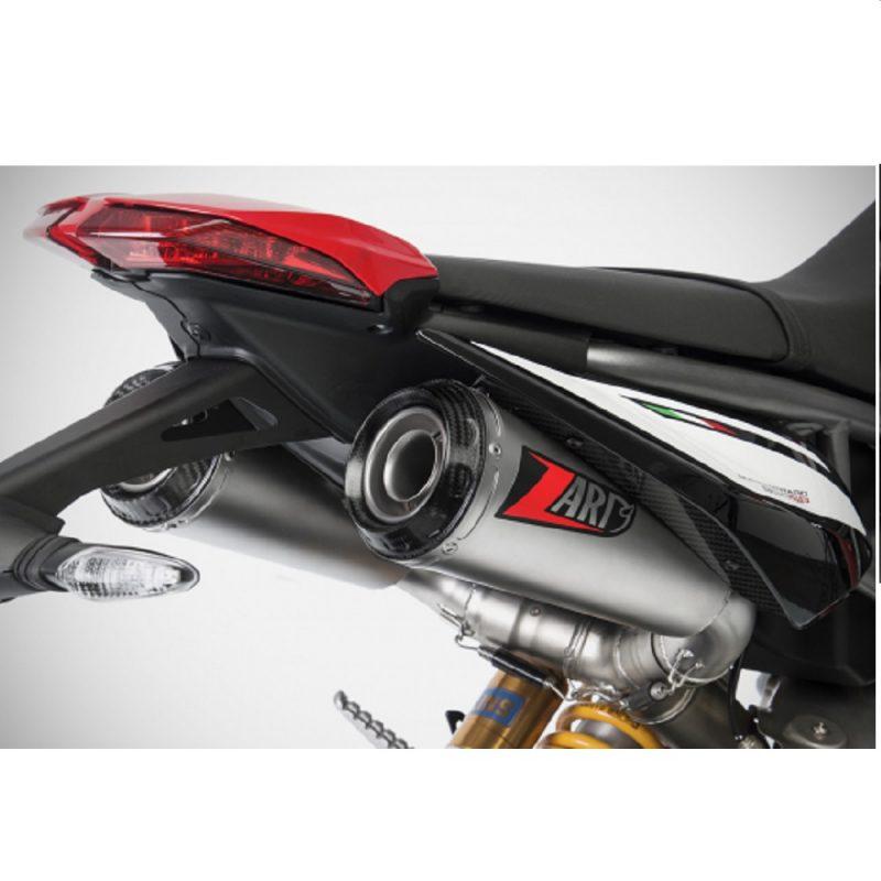 Zard Exhaust Ducati Hypermotard 950/SP Top Gun Stainless Slip-On Kit Euro 4 2019+