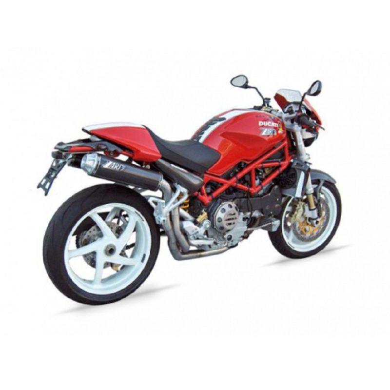 Zard Exhaust Ducati Monster 1000 S2R Stainless Header + Carbon Silencer Full System 2006-2008