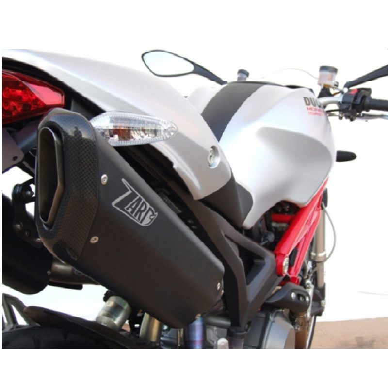 Zard Exhaust Ducati Monster 696 796 1100/S Penta Carbon Slip-On Kit With Carbon End Cap