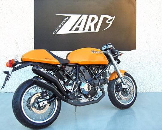 Zard Exhaust Ducati Sport 1000 Black Stainless Slip-On Kit Road Legal 2005-2009