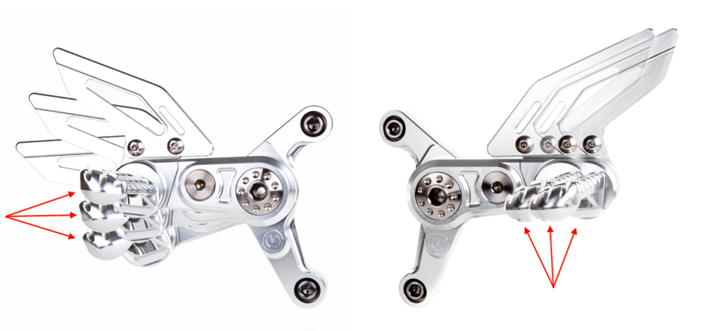 MotoCorse MV Agusta F4 / Brutale Adjustable Rearsets