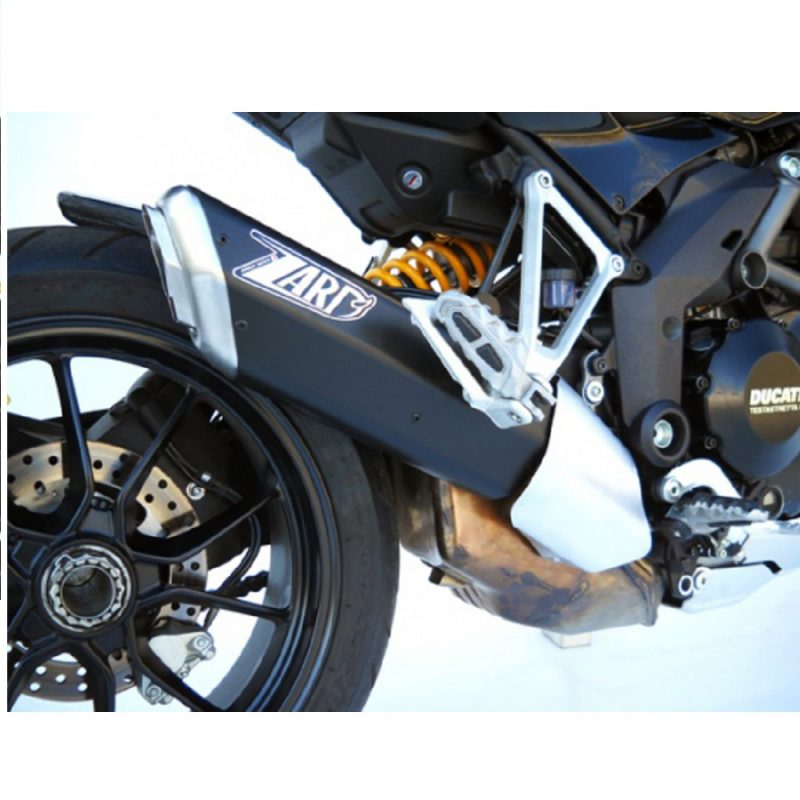 Zard Exhaust Ducati Multistrada 1200/S Penta Black Aluminium Slip-on Kit Road Legal 2010-2014