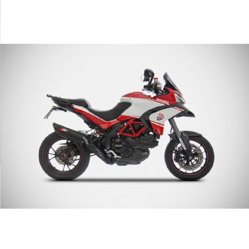 Zard Exhaust Ducati Multistrada 1200/S Penta Evo Black Aluminium Full System Road Legal 2010-2014