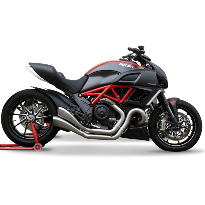 The HP Corse Hydroform Race for the awesome Ducati Diavel is a unique exhaust silencer designed to complement the design of your Ducati Diavel as well as improving power making it a perfect performance upgrade.