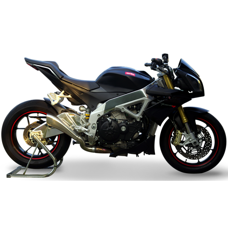 The HP Corse Hydroform for the Aprilia Tuono V4 is a unique exhaust silencer designed to complement the design of your Aprilia Tuono V4 as well as improving powerful making it a perfect performance upgrade.