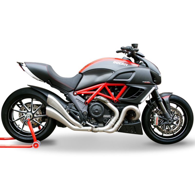 HP Corse Exhaust Ducati Diavel Hydroform Road Silencers 2011-16